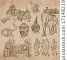 Kingdom of Cambodia - Hand drawn vector pack 17148219