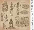 Kingdom of Cambodia - Hand drawn vector pack 17148220
