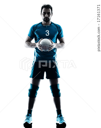 man volleyball  silhouette 17161371