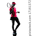 woman tennis player sadness silhouette 17161372