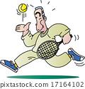 网球和老人 17164102