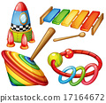 wooden, toys, colorful 17164672