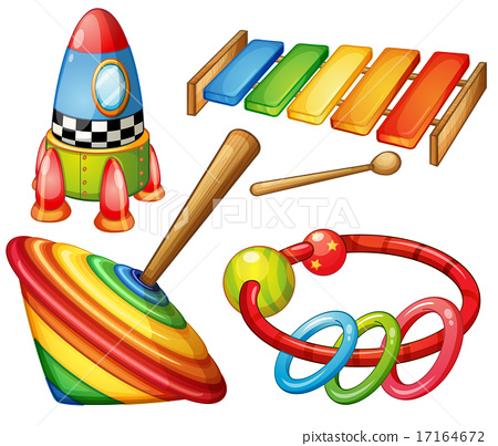 Colorful wooden toys set 17164672