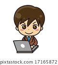 男人 電腦 筆電 17165872
