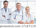 Doctors smiling at camera 17167119