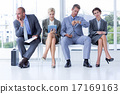 Business people waiting to be called into interview 17169163
