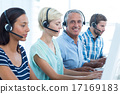 Casual call centre workers in the office 17169183