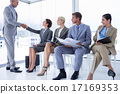 Business people waiting to be called into interview 17169353