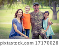 Handsome soldier reunited with family 17170028