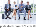 Business people waiting to be called into interview 17170638