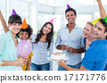 Business people celebrating a birthday 17171776