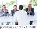 Interview panel listening to applicant 17172481