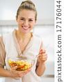 cookware, veggie, salad 17176044