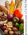 Closeup on fresh vegetables and nuts 17176579