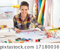 seamstress, happy, working 17180036