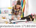 seamstress, fabric, pattern 17180160