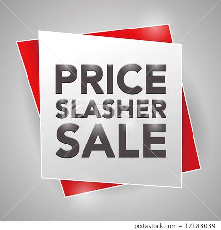PRICE SLASHER SALE, poster design element 17183039