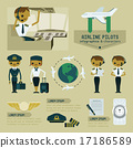 Airline pilot info graphics and characters 17186589