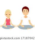yoga, vector, woman 17187042
