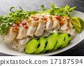 雞飯 雞肉與米飯 食物 17187594