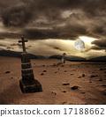 墓地 吓人的 万圣节 17188662
