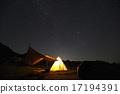 银河 夜空 帐篷 17194391