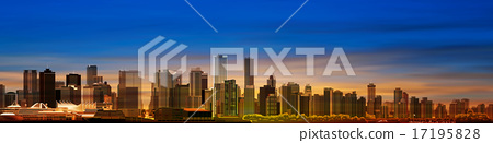 abstract background with panorama of vancouver 17195828
