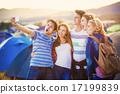 friends, group, tent 17199839