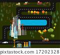 city, flat, design 17202328