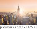 New York City Manhattan skyline in sunset. 17212533