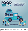 Food truck festival with gourmet,Roti rolls theme 17212958