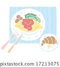 大米煎蛋 蛋包飯 矢量 17213075