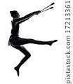 Rhythmic Gymnastics teeenager girl woman silhouette 17213361