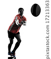 rugby man player silhouette 17213363