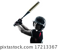 woman playing softball players silhouette isolated 17213367
