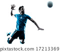 man volleyball  jumping silhouette 17213369