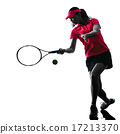 woman tennis player sadness silhouette 17213370