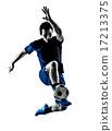 italian soccer player man silhouette  17213375