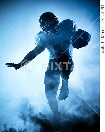 american football player silhouette 17213391