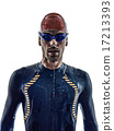 man triathlon ironman athlete swimmers portrait  17213393