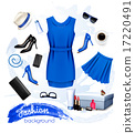 Collage of fashion female accessories. Vector 17220491