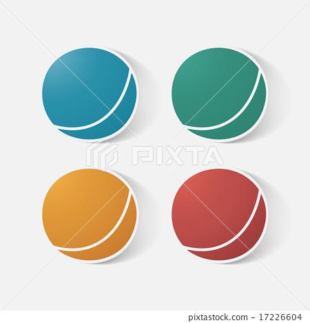 Paper clipped sticker: children's ball 17226604