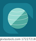 Flat modern design with shadow icon Ball for fitness 17227218