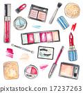 化妆 产品 水彩画 17237263