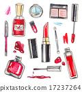 化妆品 画 水彩画 17237264