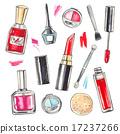 化妆 水彩画 水彩 17237266