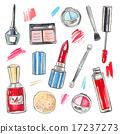 化妆品 画 水彩画 17237273