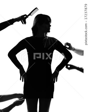 stylish silhouette woman fashion model  17237879