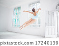 young modern ballet dancer jumping on white background 17240139