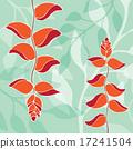 bird of paradise pattern illustration 17241504